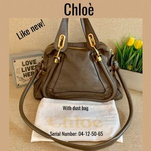 Like New💛Chloe Shoulder bag paraty 2 way Khaki